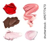 smears of different colors are... | Shutterstock . vector #690777673