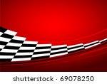red racing banner | Shutterstock .eps vector #69078250