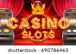 casino 3d slot machines win the ... | Shutterstock .eps vector #690786463