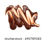 close up of chocolate syrup... | Shutterstock . vector #690789283
