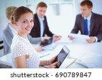 business handshake. business...   Shutterstock . vector #690789847