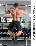 young bodybuilder training in... | Shutterstock . vector #69079930
