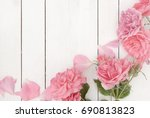 vintage styled image of pink... | Shutterstock . vector #690813823