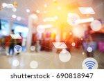 modern and wireless sensor... | Shutterstock . vector #690818947