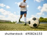 portrait of unrecognizable... | Shutterstock . vector #690826153