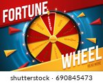 wheel of fortune 3d object... | Shutterstock .eps vector #690845473