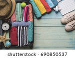 concept of travel vacation trip ... | Shutterstock . vector #690850537