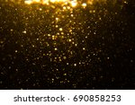 abstract gold bokeh with black... | Shutterstock . vector #690858253