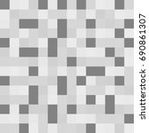 gray squares of different... | Shutterstock . vector #690861307