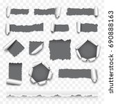 torn paper detailed photo... | Shutterstock .eps vector #690888163