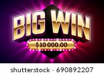 big win banner for gambling... | Shutterstock .eps vector #690892207