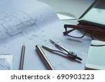 architectural plan divider... | Shutterstock . vector #690903223