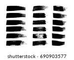 set of brush strokes for grunge ... | Shutterstock .eps vector #690903577