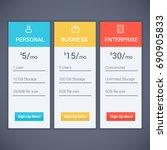 web menu plan pricing with...