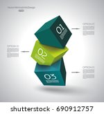 abstract composition of 3d... | Shutterstock .eps vector #690912757