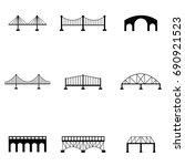 bridge icon set | Shutterstock .eps vector #690921523