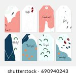hand drawn creative tags.... | Shutterstock .eps vector #690940243