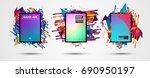 futuristic frame art design...   Shutterstock . vector #690950197