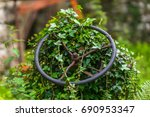 old abandoned tractor in an... | Shutterstock . vector #690953347