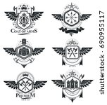 vintage heraldry design... | Shutterstock .eps vector #690955117