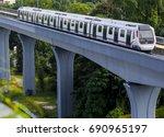 malaysia mrt  mass rapid... | Shutterstock . vector #690965197
