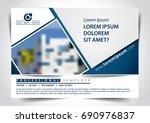 vector brochure  flyer ... | Shutterstock .eps vector #690976837