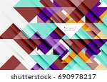 triangle pattern design... | Shutterstock .eps vector #690978217