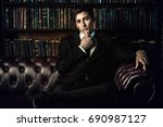 handsome well dressed young man ...   Shutterstock . vector #690987127