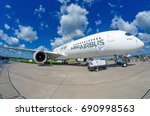 demonstration airplane airbus... | Shutterstock . vector #690998563