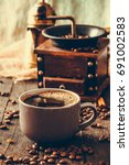 coffee. cup of turkish coffee... | Shutterstock . vector #691002583