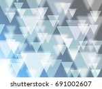 triangle background | Shutterstock . vector #691002607