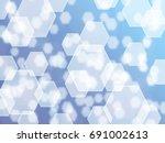 hexagon light background | Shutterstock . vector #691002613