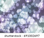 hexagon bokeh background  | Shutterstock . vector #691002697