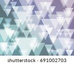 white triangle bokeh | Shutterstock . vector #691002703