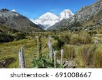 Small photo of Mt Huascaran from Laguna 69 trail, Ancash province, Peru