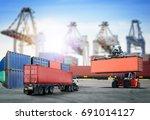 logistics import export... | Shutterstock . vector #691014127