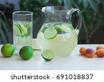 preparation of the lemonade... | Shutterstock . vector #691018837