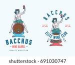 bacchus wine club colored... | Shutterstock .eps vector #691030747