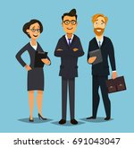 business people group standing... | Shutterstock .eps vector #691043047
