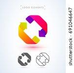 abstract arrows logo template....