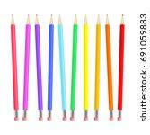 Colorful Realistic Pencils Set...