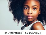 closeup portrait of a confident ... | Shutterstock . vector #691064827