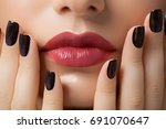 woman makeup and manicure. high ... | Shutterstock . vector #691070647