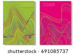 abstract background design with ... | Shutterstock .eps vector #691085737