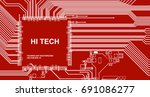 abstract high tech background...   Shutterstock .eps vector #691086277
