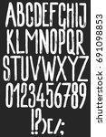 alphabet hand drawn graphic... | Shutterstock .eps vector #691098853