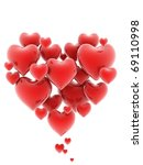 heart shaped cluster of hearts... | Shutterstock . vector #69110998
