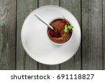delicious sweet chocolate... | Shutterstock . vector #691118827