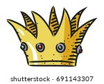cartoon image of crown icon. an ...