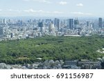 tokyo landscape yoyogi park... | Shutterstock . vector #691156987